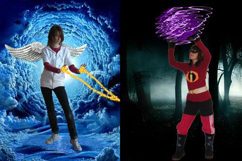 Super-Clara et Super-Mégane