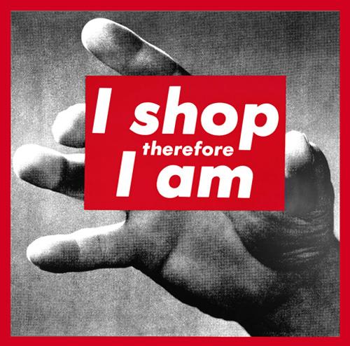 Untitled (I shop therefore I am), Barbara Kruger, 1987