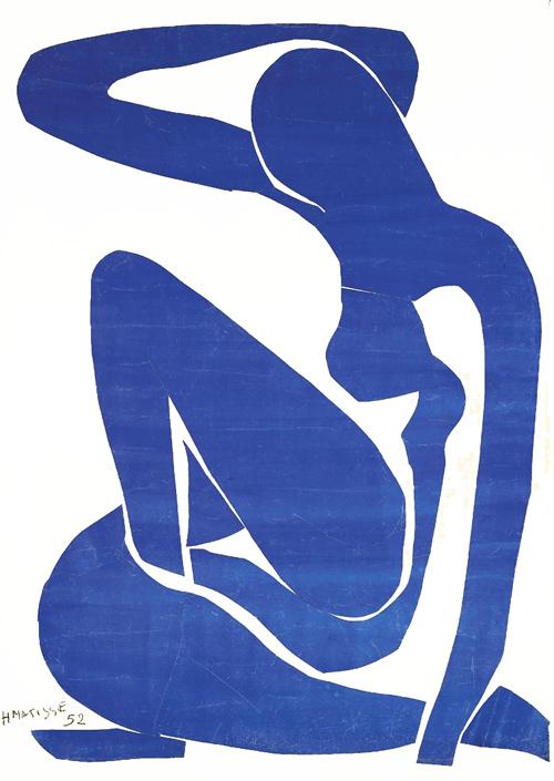 Nu bleu I, Matisse, 1952