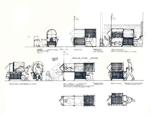 Homeless Vehicle, Krzysztof Wodiczko, 1988-89