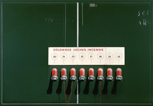 Colonnes- sèches incendie, Peter Klasen, 2010