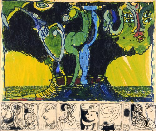 Volcan ensorcelé, Pierre Alechinsky, 1974