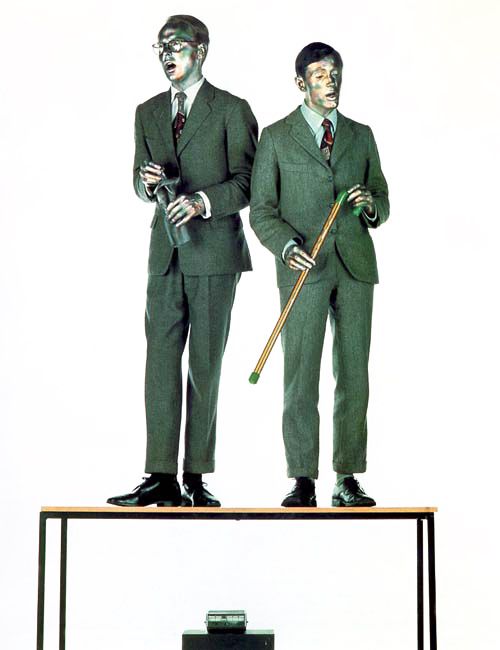 The Singing Sculpture, Gilbert & George, performance, 1970