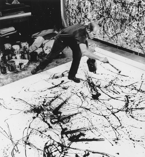 Jackson Pollock au travail, une photographie de Hans Namuth, 1950