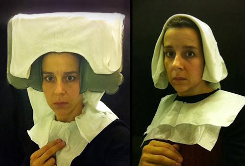 <em>Lavatory Self-Portraits in the Flemish Style, Nina Katchadourian, photographies, 2010″></p> <p><em>Lavatory Self-Portraits in the Flemish Style</em>, Nina Katchadourian, photographies, 2010<br /> Nina Katchadourian, en mars 2010, lors d'un vol long-courrier, a l'idée de se coiffer de papier hygiénique et de s'enfermer dans les toilettes de l'avion pour se prendre en photo. Le résultat : des autoportraits au style proche des peintures flamandes du XVe siècle. Depuis, Nina Katchadourian a multiplié les autoportraits : http://www.ninakatchadourian.com</p> <p><strong>Portrait, autoportrait, autobiographie et identité à travers l'art vidéo</strong></p> <p><em>imagespassages</em> propose dans le cadre de son action d'éducation à l'image et aux nouveaux médias une initiation à l'art vidéo en classe par la présentation de monobandes d'artistes issues de son centre ressources sur le portrait, l'autoportrait, l'autobiographie et l'identité.<br /> Aujourd'hui, de nombreux artistes continuent de perpétuer la tradition du portrait et de l'autoportrait à travers le médium vidéo, utilisant l'autofiction, l'autodérision ou la narration autobiographique, comme autant d'outils affichés d'une profonde quête identitaire. L'autofiction vidéo leur sert bien souvent à exhiber des fantasmes, des histoires personnelles ou des tragédies, tout en se parant d'un masque romanesque emprunté à la littérature.</p> <p>Objectif cette intervention<br /> Favoriser l'esprit critique : prise de conscience des différents systèmes médiatiques (monobandes, exposition avec découverte d'une installation), la capacité à distinguer réalité et représentation de cette réalité.<br /> Analyser et décrypter une image :<br /> Développer l'imaginaire et la sensibilité : montrer aux élèves différentes œuvres ou s'expriment des discours différents (contemplatif, narratif, descriptif)<br /> Repères sur l'art contemporain dans l'histoire.</p> <p>Introduction du portrait dans l'histoire de l'art classique<br /> Le por