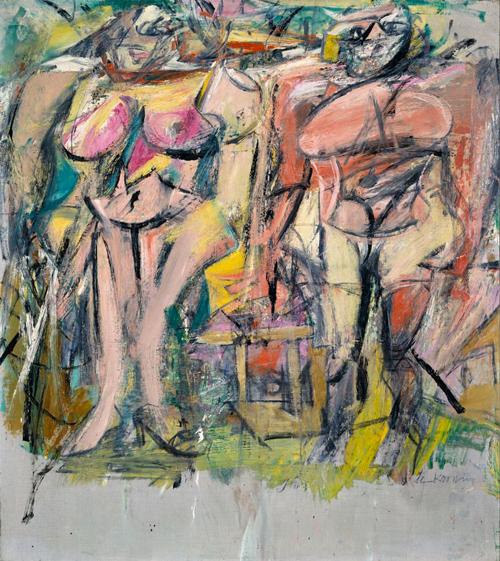 Two Women in the Country, De Kooning, 117x103 cm, 1954