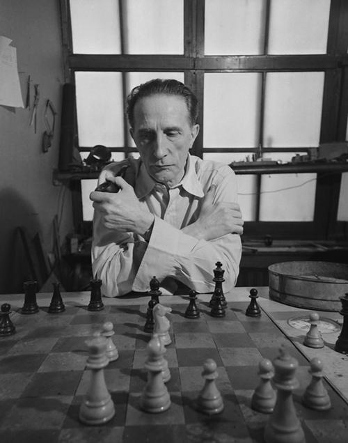 Marcel Duchamp, photographie d'Eliot Elisofon, 1952 (LIFE)